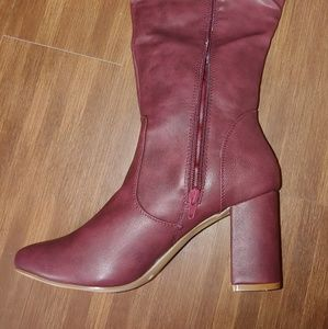 Shoes - Burgundy knee boots